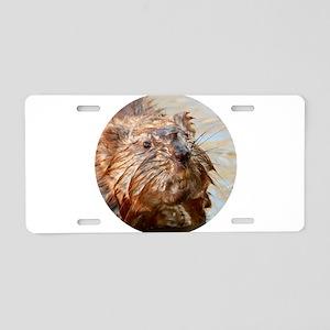 Muskrat in the Muck Aluminum License Plate