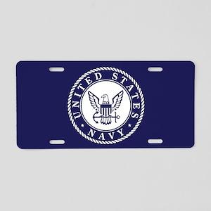 d01f05510bc5 US Navy Emblem Blue White Aluminum License Plate