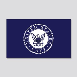 US Navy Emblem Blue White Wall Decal