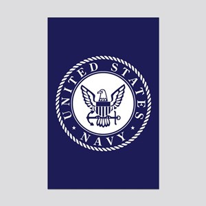 US Navy Emblem Blue White Posters