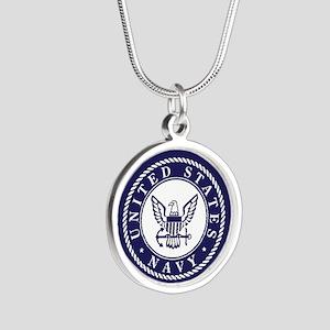 US Navy Emblem Blue White Necklaces