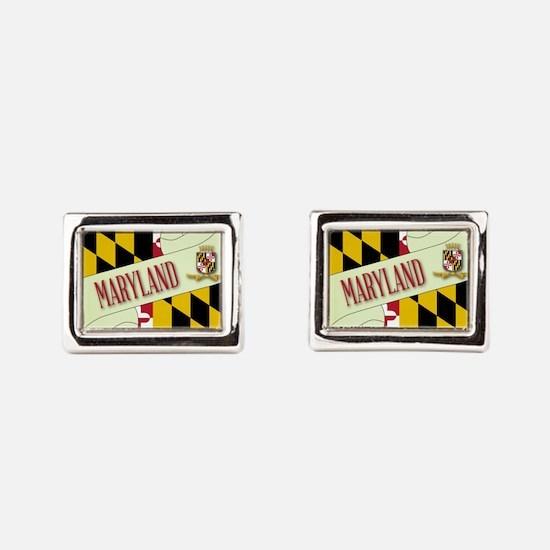 Maryland flag Rectangular Cufflinks