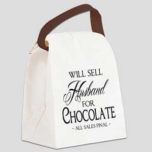 Husband for Chocolate Canvas Lunch Bag