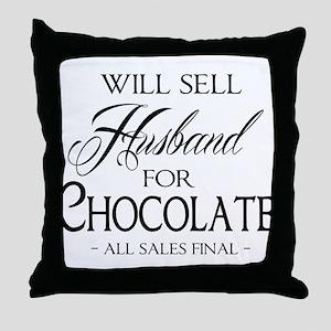 Husband for Chocolate Throw Pillow