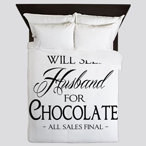 Husband for Chocolate Queen Duvet