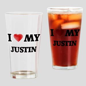 I love my Justin Drinking Glass