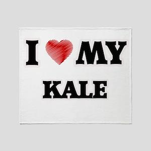 I love my Kale Throw Blanket