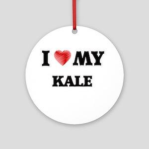 I love my Kale Round Ornament