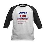 Vote for NOBODY! Baseball Jersey