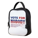 Vote For Nobody! Neoprene Lunch Bag