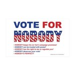 Vote4Nobody 35x21 Wall Decal