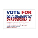 Vote4Nobody 20x12 Wall Decal