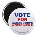 "Vote4nobody 2.25"" Magnet Magnets"