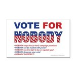 Vote4Nobody Rectangle Car Magnet