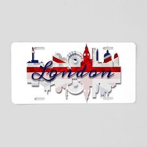 London Skyline Aluminum License Plate