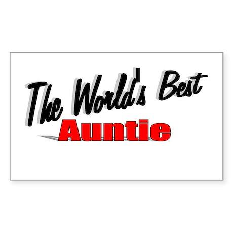 """The World's Best Auntie"" Rectangle Sticker"
