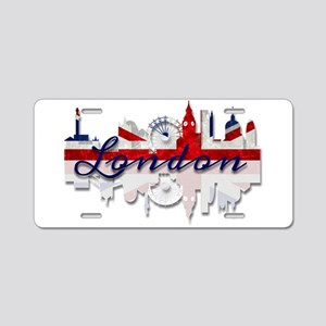 London Skyline Aluminum License Plate