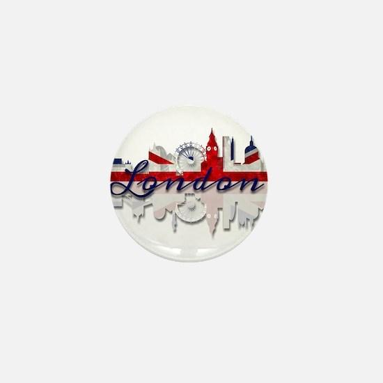 London Skyline Mini Button