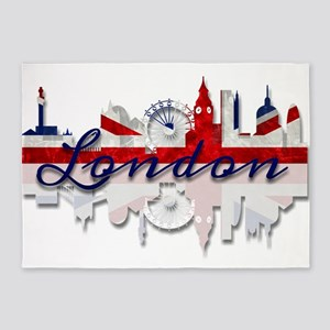 London Skyline 5'x7'Area Rug