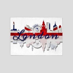London Skyline 5'x7'Area Rug