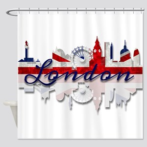 London Skyline Shower Curtain