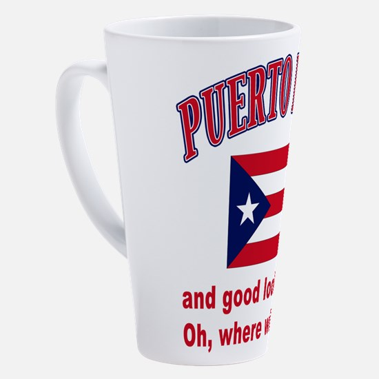 Cute Boricua flag 17 oz Latte Mug