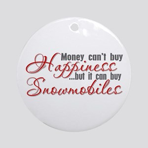 Money Can't Buy Happiness Ornament (Round)