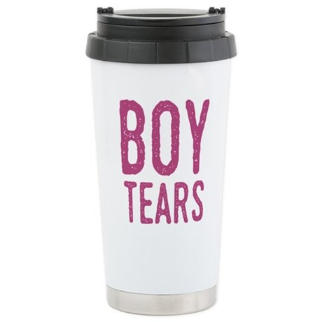Boy Tears Stainless Steel Travel Mug