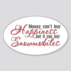 Money Can't Buy Happiness Oval Sticker