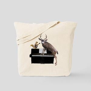 Deer Piano Tote Bag