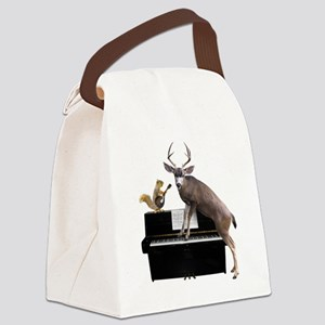 Deer Piano Canvas Lunch Bag