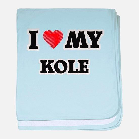 I love my Kole baby blanket