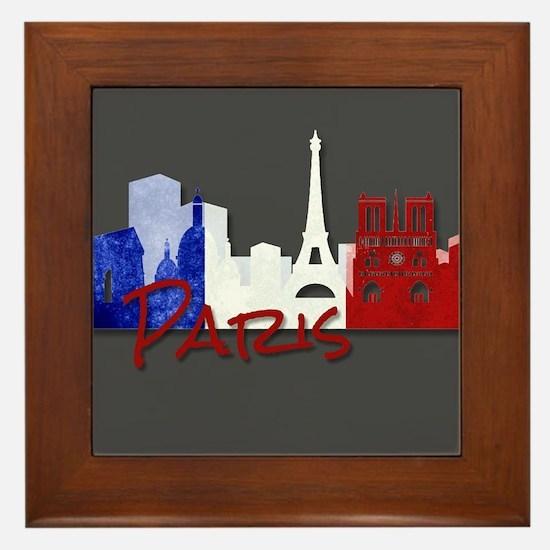 Paris France Framed Tile