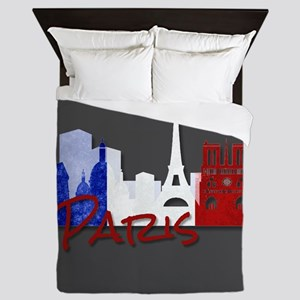 Paris France Queen Duvet