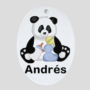 Andrés' Little Panda Oval Ornament