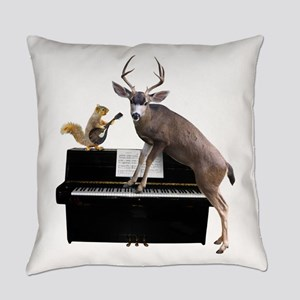 Deer Piano Everyday Pillow