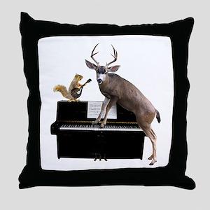 Deer Piano Throw Pillow