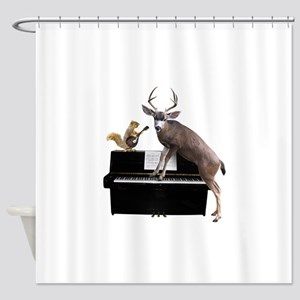 Deer Piano Shower Curtain
