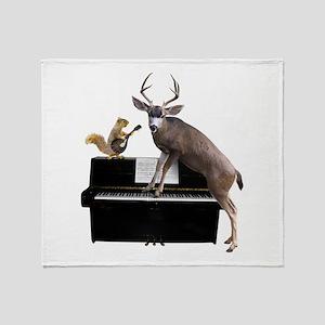Deer Piano Throw Blanket