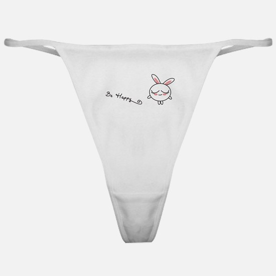Be Happy Bunny Classic Thong