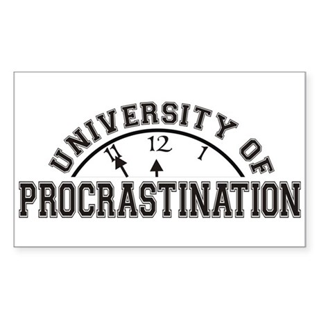 Uni of Procrastination Rectangle Sticker