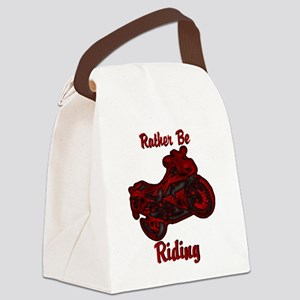 Rather Be Riding Canvas Lunch Bag