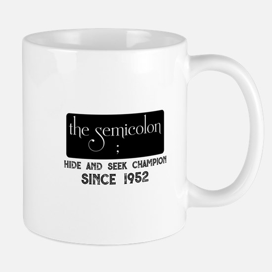 The semicolon Mugs