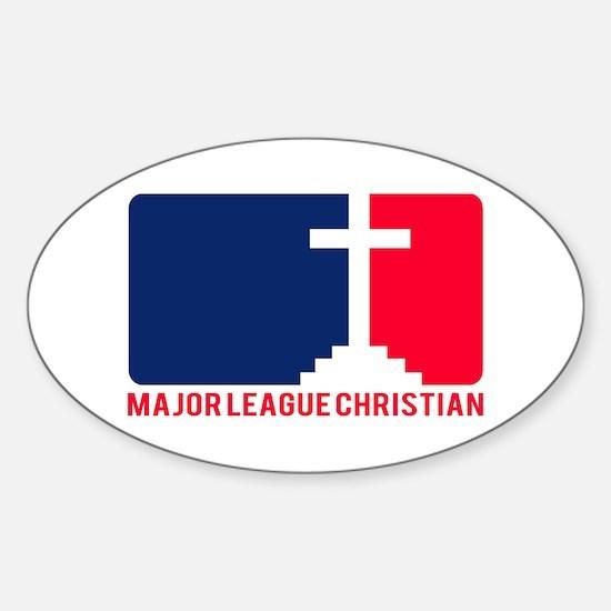 Major League Christian Oval Decal