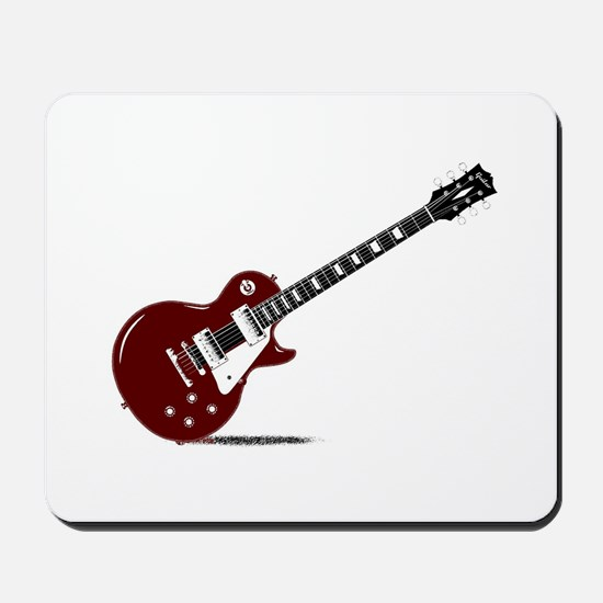 Isolated Rock Guitar Mousepad
