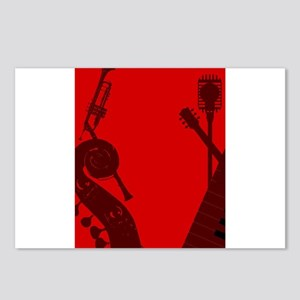 Jazz Club Background Postcards (Package of 8)