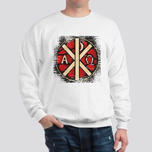 Alpha Omega Stained Glass Sweatshirt