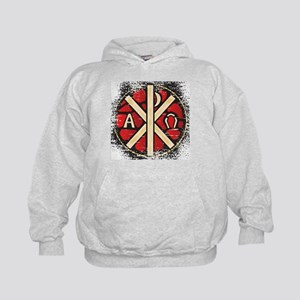 Alpha Omega Stained Glass Kids Hoodie