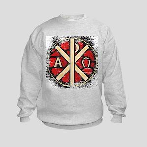Alpha Omega Stained Glass Kids Sweatshirt