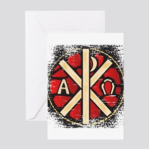 Alpha Omega Stained Glass Greeting Cards